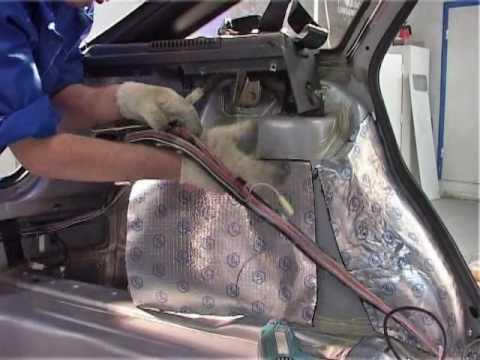 Шумоизоляция Панели арок колес и пола багажника.