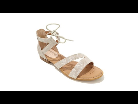 139c6af3b6041 Born Casma Leather LaceUp Sandal - YouTube