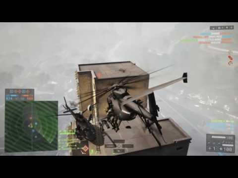 BF4 (PS4) Flood Zone 118-1 (Scout Helicopter Gameplay)