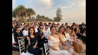 Trấn Thành 'lầy lội' chọc ghẹo Ngô Kiến Huy và Khổng Tú Quỳnh tại đám cưới Đông Nhi - Ông Cao Thắng