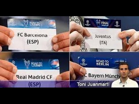 El sorteo de semifinales de Champions * The draw for the semi-finals of Champions