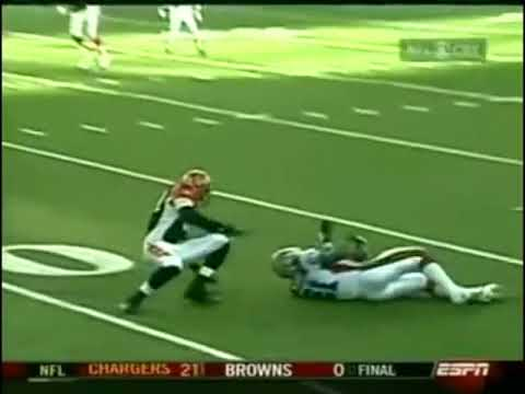 In a 2004 game between the Bills and Bengals, 336-pound rookie tight end Jason Peters blocked a punt and recovered the fumble for a touchdown (starting at 0:29)