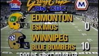 CFL 78th Grey Cup-Wpg Vs Ed (1990)