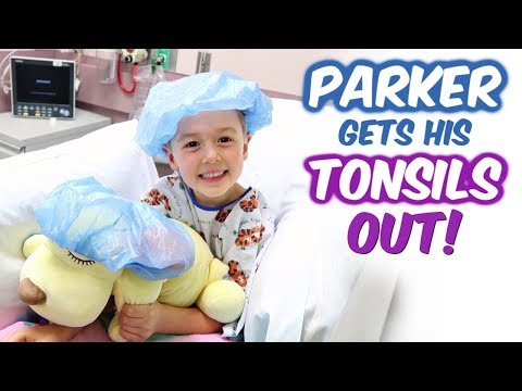 Parker Gets His Tonsils Out!
