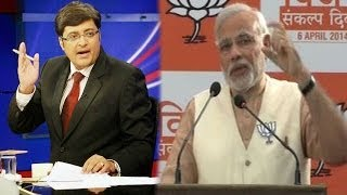 The Newshour Debate: Narendra Modi Manifesto - Full Debate (7th April 2014)