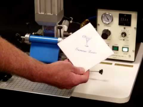 Model 45PN Napkin Printer Hot Stamper Air Operated Howard Personalizer -  YouTube