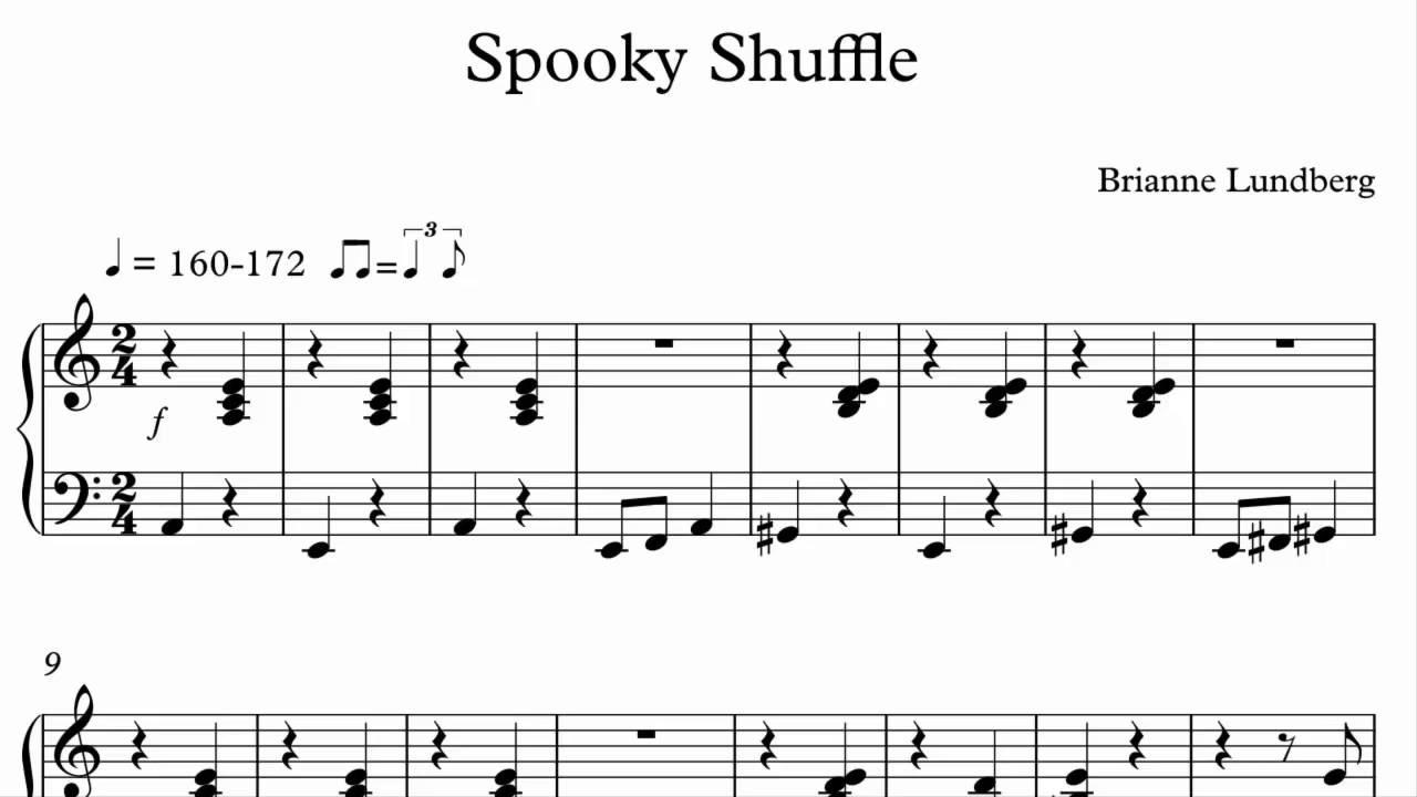 Halloween piano sheet music spooky shuffle youtube halloween piano sheet music spooky shuffle hexwebz Gallery