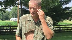 How Not To Destroy A Hornets Nest! Man Gets Stung Multiple Times! Burnt & Stung!