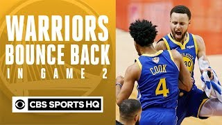 Warriors BOUNCE BACK in Game 2 vs. Raptors | Analysis & Postgame Interviews | CBS Sports HQ