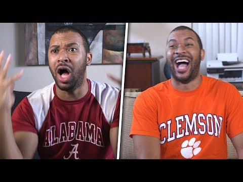 Bama Vs. Clemson Fans During The National Championship