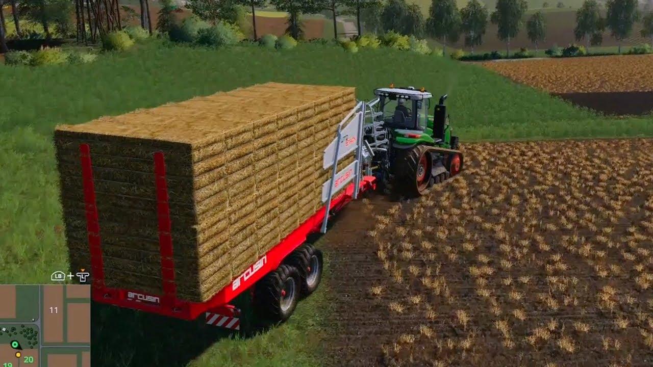 Farming Simulator 19 - Bale Collector Gameplay (HD) [1080p60FPS]