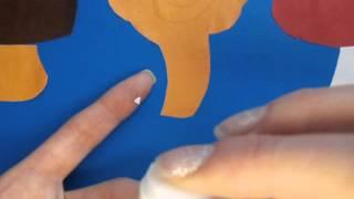 Аппликация для малыша Грибная полянка