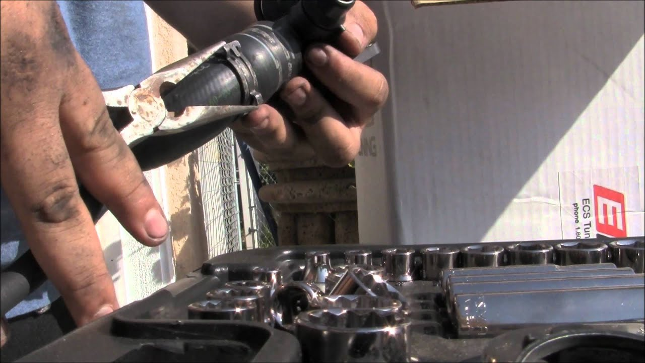 2004 Audi A4 : Coolant Flange replacement PART 4 - YouTube