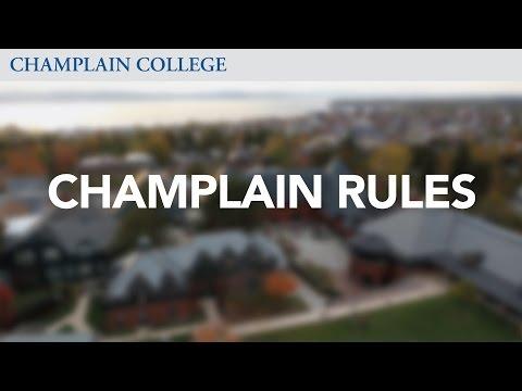 Champlain Rules   Champlain College