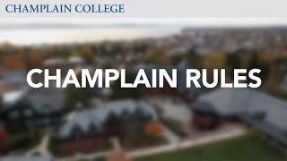 Champlain Rules | Champlain College