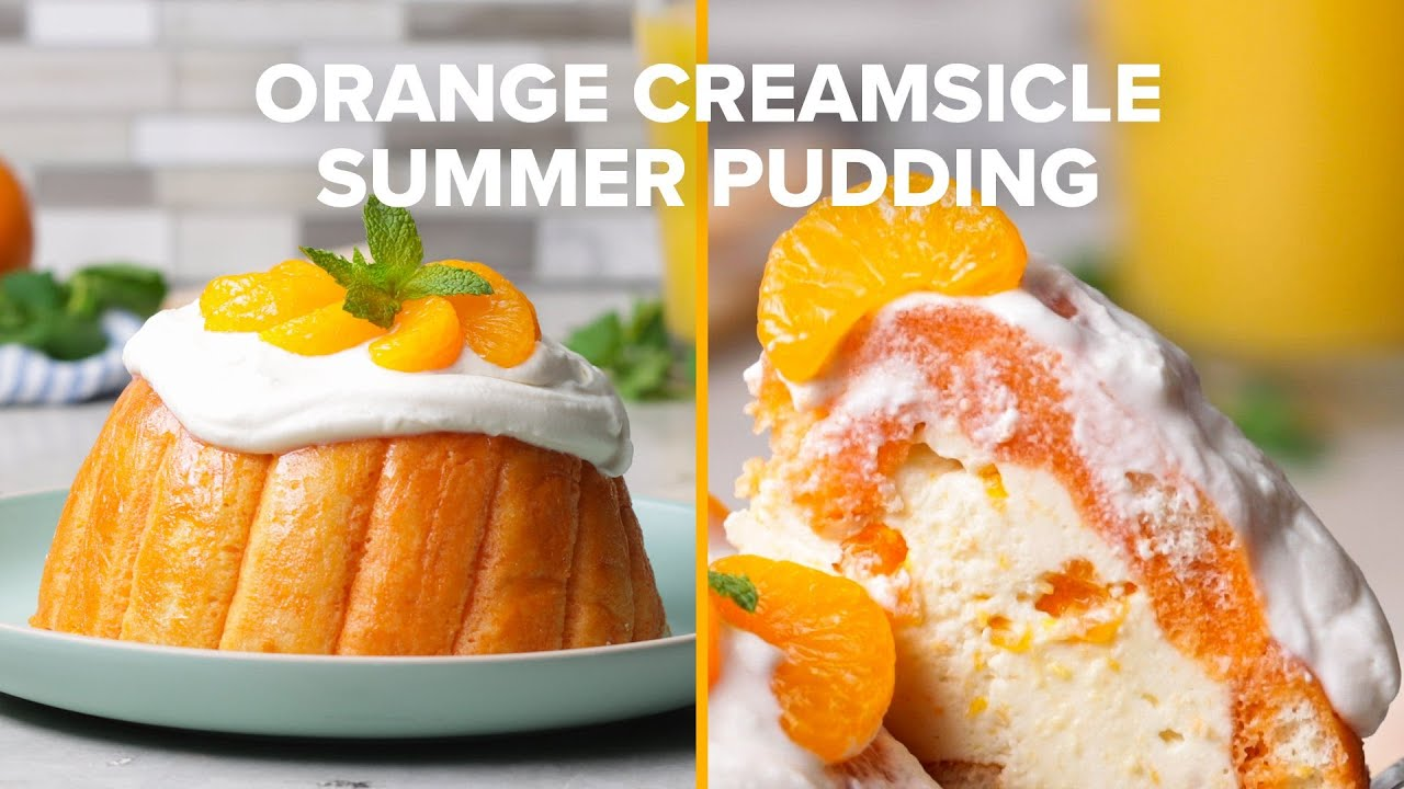 Orange Creamsicle Summer Pudding
