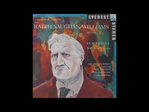 Ralph Vaughan Williams Symphony No. 9 Sir Adrian Boult, The London Philharmonic Orchestra