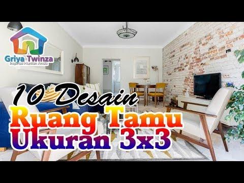 10 Inspirasi Desain Ruang Tamu Minimalis Ukuran 3 x 3 untuk Rumah