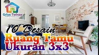 10 Inspirasi Desain Ruang Tamu Minimalis Ukuran 3 X 3 Untuk Rumah Kecil