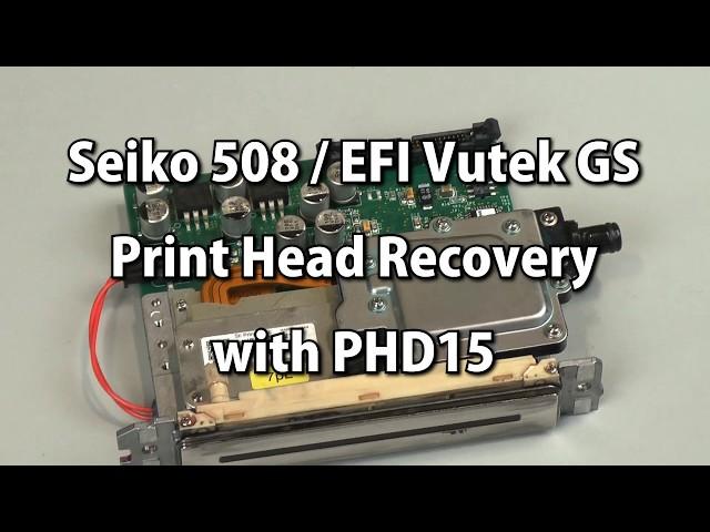 Seiko 508 / EFI Vutek GS Print Head Recovery with PHD15