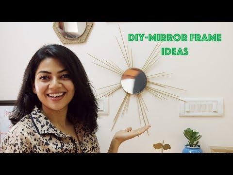 DIY MIRROR FRAME IDEAS HOUSEZZAT