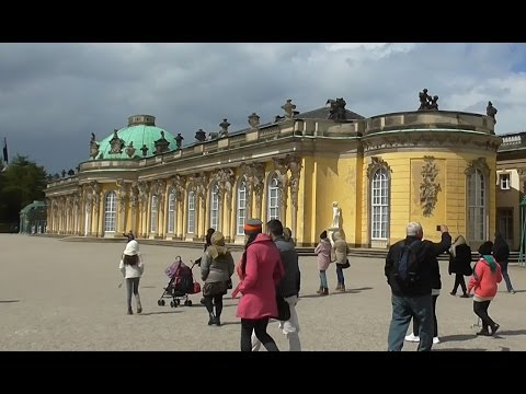 German Beauty. Sanssouci. Summer palace of Frederick the Great, King of Prussia. Potsdam. Germany