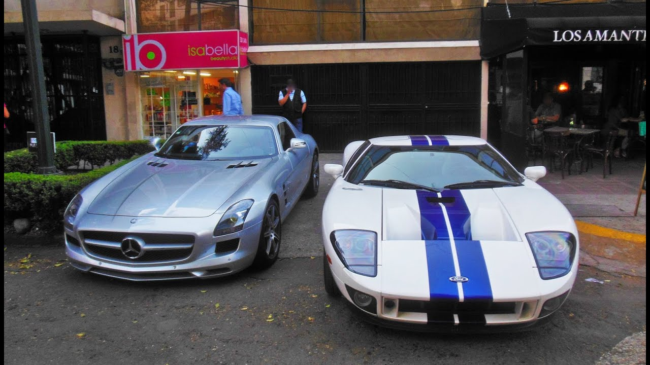 Ford gt mercedes benz sls amg m xico df youtube for Www mercedes benz mexico