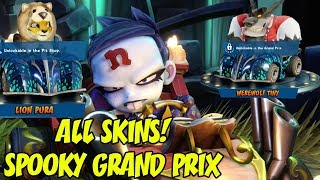 Crash Team Racing Nitro Fueled - Spooky Grand Prix ALL Characters & Skins! Nina Cortex, Brio, Coco!