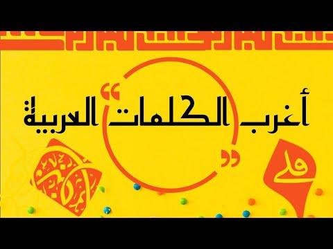 أغرب الكلمات العربية Youtube