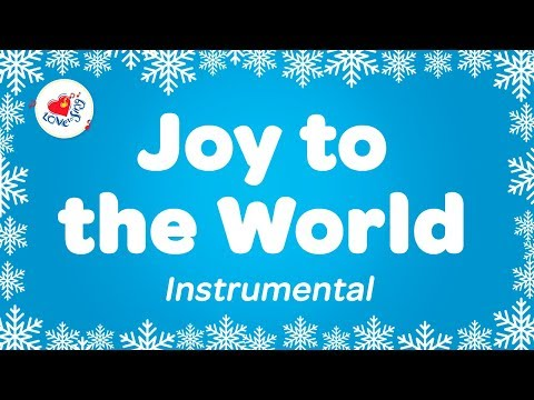 Joy to the World Christmas Instrumental Music | Karaoke Christmas Song | Xmas Sing Along Lyrics