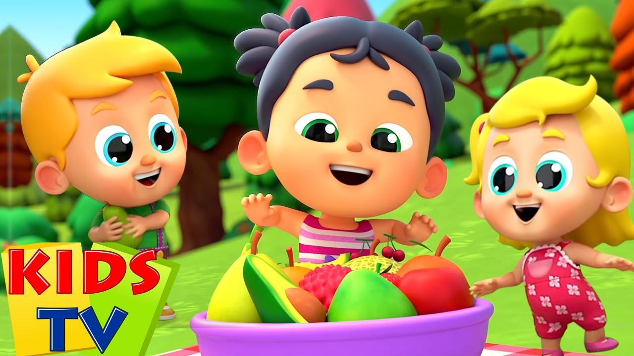 Fruits Song   Nursery Rhymes & Baby Cartoon   Children Songs   Baby Toot Toot - Kids Tv