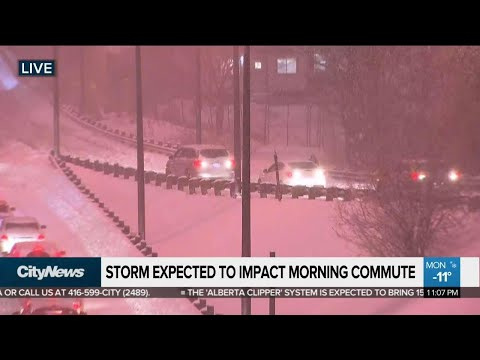 Storm expected to impact morning commute