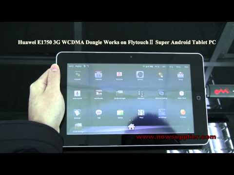 Huawei E1750 3G WCDMA Dongle Works on FlytouchⅡ Super Android Tablet PC