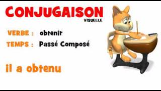 Conjugaison Obtenir Passe Compose Youtube