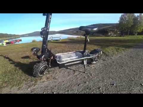 Electric Scooter Dual Motor 5000 Watt 60Volt 30AH Norwegian Mountain Big Test 4K  Film