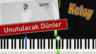 Gazapizm - Unutulacak Dunler   Kolay Piyano - Nasil   alinir Resimi