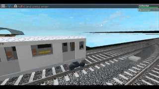 (Roblox) R46 F train de Coney Island à un aiguillage cassé près de West 8th New York Aquarium.