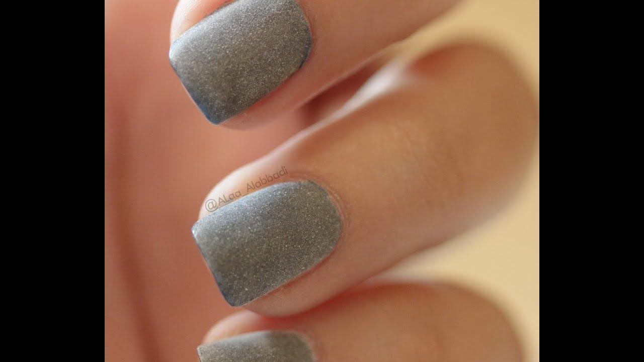Matte nail polish using powder .. - YouTube