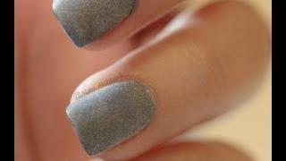 Matte Nail Polish Using Powder