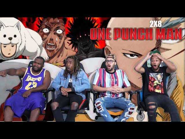 NONSTOP FIGHTING! One Punch Man Season 2 Episode 8 REACTION/REVIEW