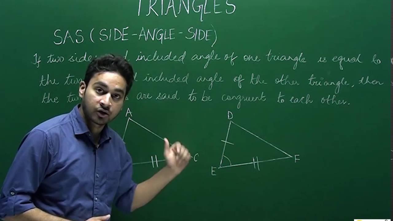 Class 9 Mathematics Criteria For Congruency Youtube