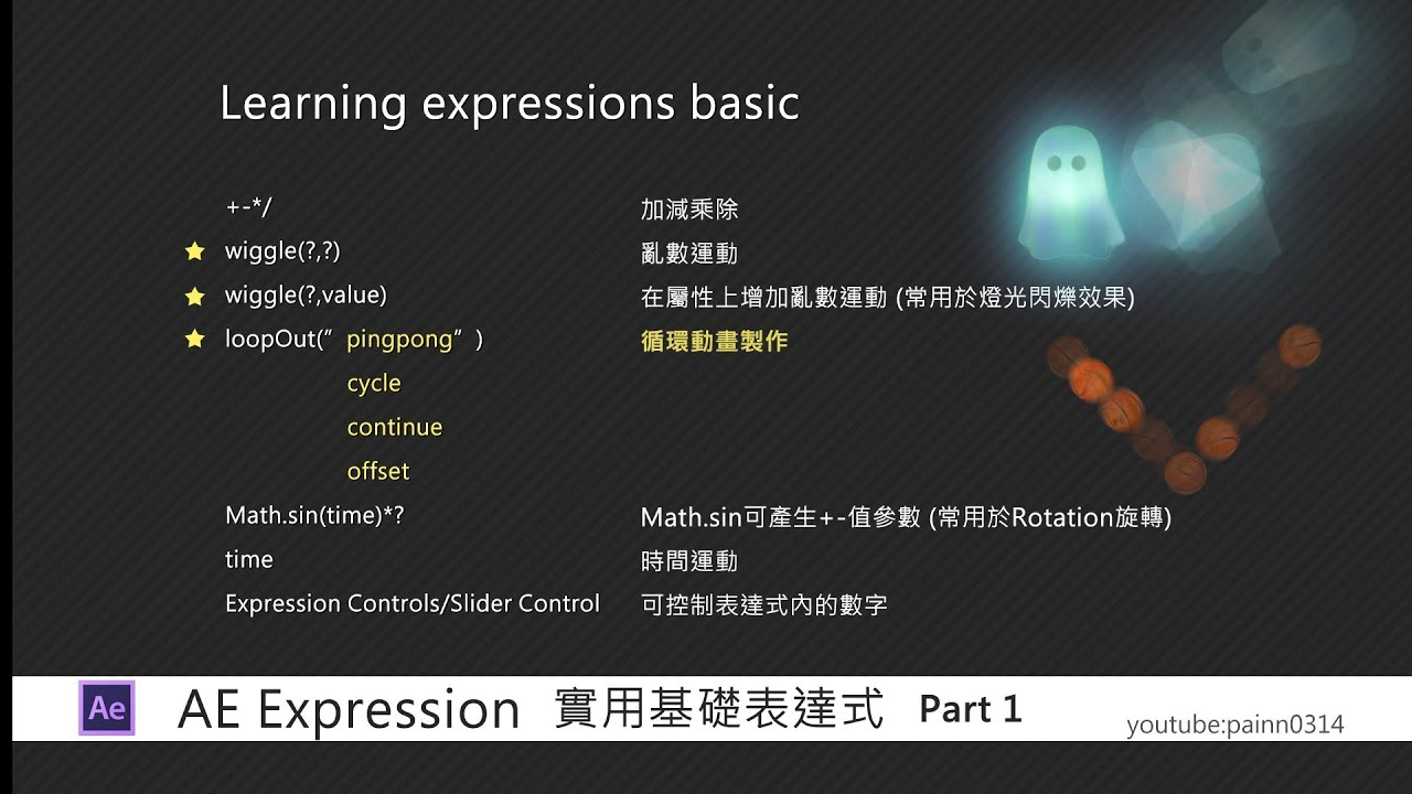 【AE中文教學 動畫篇】 實用基礎表達式 /After Effects Tutorial(Learning Expressions Basic Tutorial) - YouTube