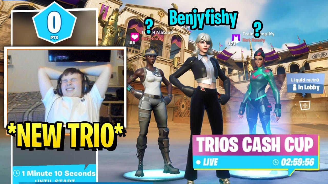 Benjyfishy Went Full W-Key in Trio Cash Cup with NEW TRIO!