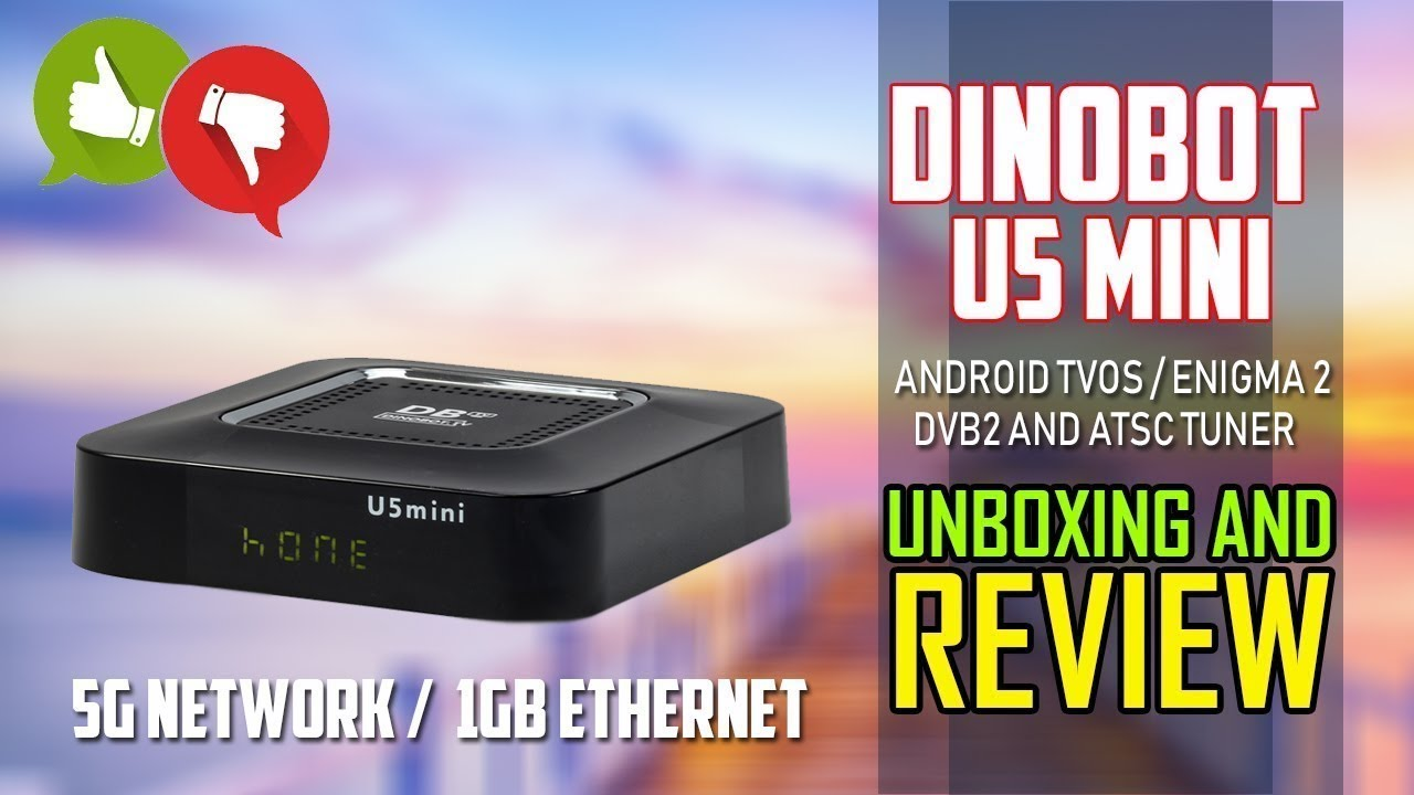 Dinobot U5 Mini Dualboot Engima 2 Android TVOS And More - Unboxing And  Review