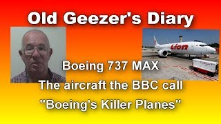 """""""Boeing's Killer Planes""""; Old Geezer's Diary, 20 July"""