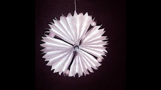 Glittery Paper Sunburst Ornament- Paper Crafts, Christmas Ornament - Gift Toppers