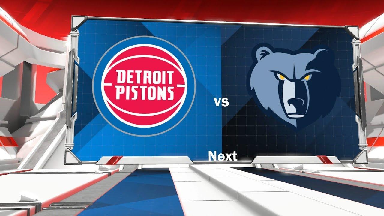 """Résultat de recherche d'images pour """"Detroit Pistons vs Memphis Grizzlies"""""""