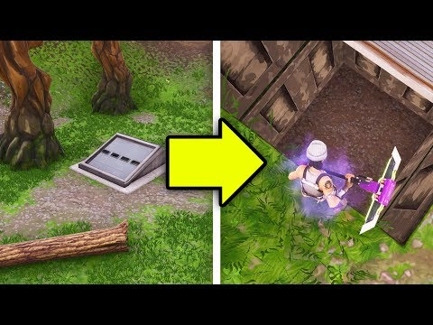 Opening the SECRET BUNKER in Fortnite..