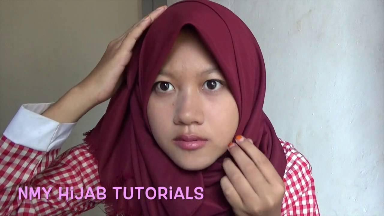 Tutorial Hijab Pashmina Simple Tampa NinjaCiput Terbaru 2016 NMY