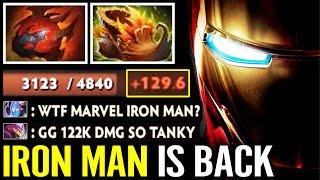 WTF IRON MAN IS BACK!!! 122K DMG Super Tanky Heart Woodland Clockwerk Crazy Epic Dota 2 Pro Gameplay